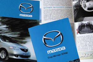 Mazda product leaflet and flyer