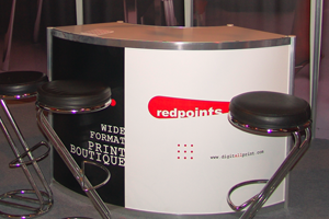 Red Points company stand